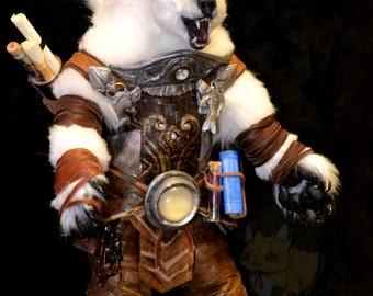 EXAMPLE WORK Polar Bear Entirely Hand Made Poseable Art Doll
