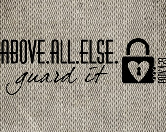 5x7 Guard Your Heart download