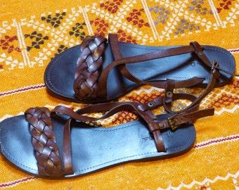 leather shoes sandals 6.5 US eur37