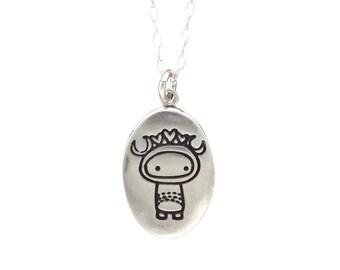 Super Cute Scorpio Necklace - Sterling Silver Zodiac Pendant