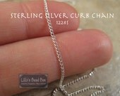 Sterling Silver 1.1mm Curb Chain (1228s) - By The Foot