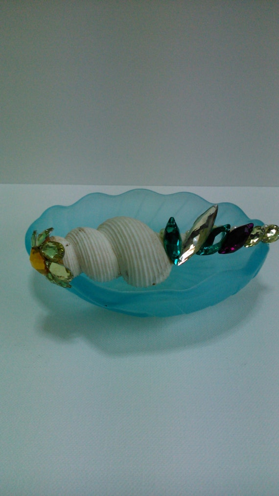 Decorated Floral Blink Blink Beads Seashell. No.3.