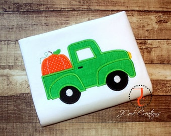 Pumpkin Truck Shirt - Boys Thanksgiving Shirt, Thanksgiving Outfit, Truck Shirt, Pumpkin Shirt, Boys Halloween Shirt, Pumpkin Birthday