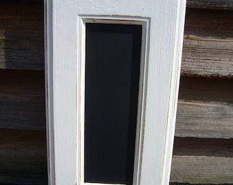 Shopping List Chalkboard - White Home Decor - Wooden Blackboard - Thin Blackboard - Framed Noteboard - Wall Decor - Kitchen Chalkboards