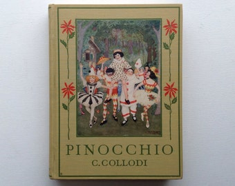 Pinocchio. 1920 Gift Edition Illustrated by Maria Kirk.