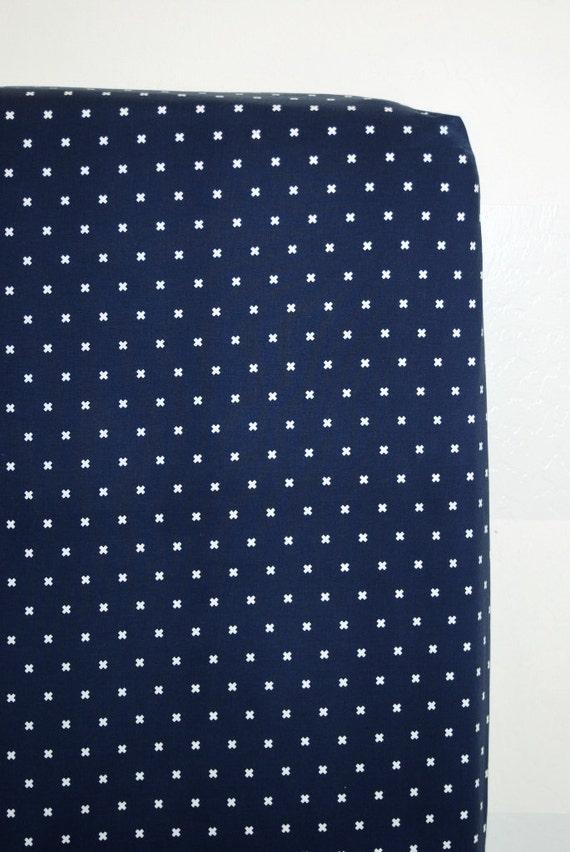 Navy Plus Crib Sheet Baby Bedding Standard Size Free