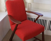 Vintage Upholstered Chair in Knoll Classic Boucle Fabric