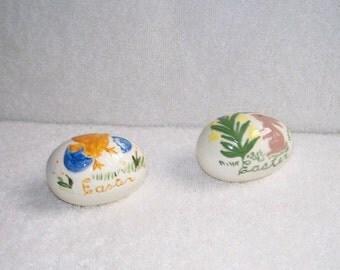 Ceramic easter eggs etsy vintage ceramic easter eggs 1960s 2 artist signedhand madedecor negle Gallery