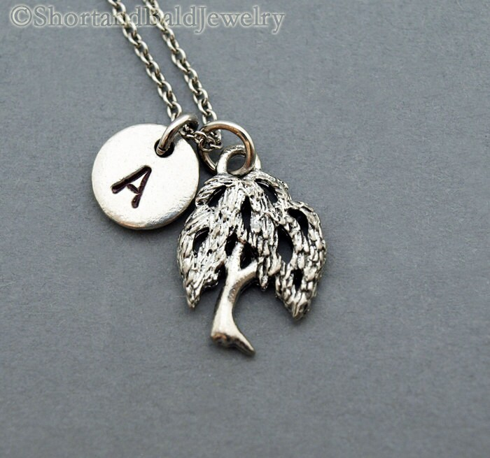 Willow Tree Necklace Silver Willow Tree Willow Tree Jewelry