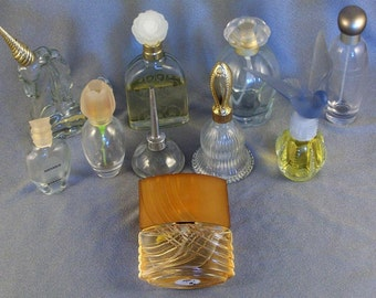 SALE Lot of 12 Perfume Cologne Bottles // Containers // Dispensers // Decorative // Collectible // 10 Items + 2 Not Shown // ***WAS 12.00