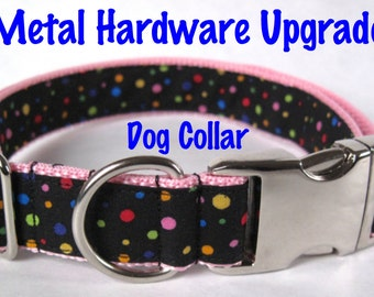 UPGRADE: Metal buckle and slide for dog collar