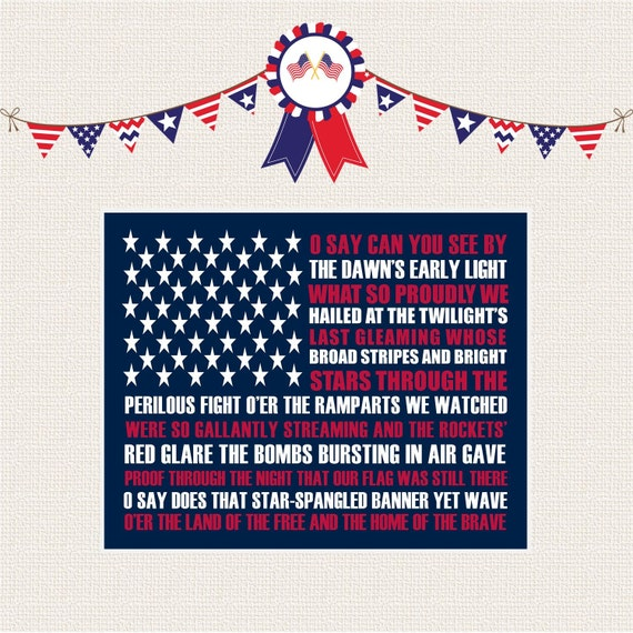 What are the lyrics to american national anthem