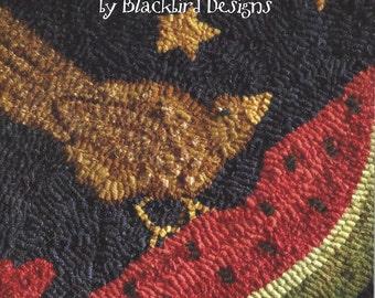SALE - Blackbird Designs - Summer Afternoon - Rug Hooking - Barb Adams and Alma Allen