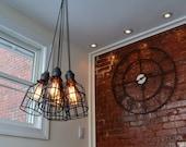 Modern Industrial Pendant - Industrial Light- Ceiling Light - Industrial Pendant Light - Pendant Lighting - Multi Pendant Steel Light