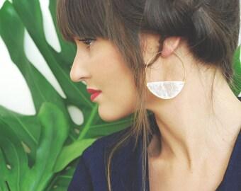 Keep Dancing Hand Carved Capiz Shell Earrings
