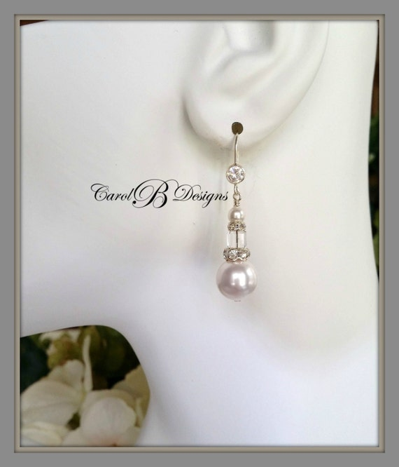 Jewelry Wedding Gift For Daughter : Wedding Jewelry for Brides, Daughter In Law Gift, Bridal Earrings ...