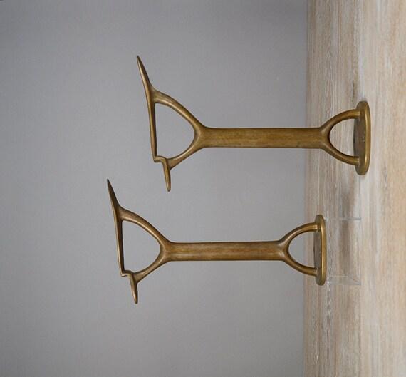 antique shoe stand brass shoe shine stand brass foot rest. Black Bedroom Furniture Sets. Home Design Ideas