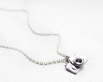 Tiny Camera Charm Necklace - Mini Photographer Photo Photography Charm Necklace Pendant