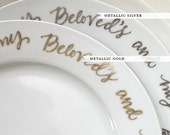 Wedding Cake Plates - Calligraphy - I am my beloved's and my beloved is mine - wedding gift - anniversary gift