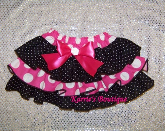 Minnie Mouse Ruffle Bloomer / Pink / Diaper Cover / Disney / Minnie / Newborn / Infant / Baby / Girl / Toddler / Custom Boutique Clothing