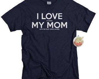 Kids Clothing - Shirts for Boys and Girls - Cute Tshirts I Love My Mom Video Game T-shirt Shirt - Kids Gift