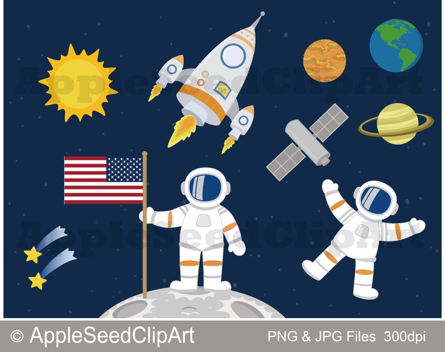 astronauts in space clipart - photo #26