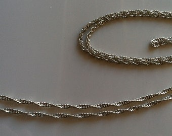 Long Wavy Italian Sterling Chain