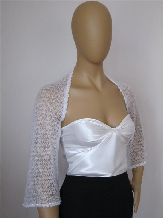 Wedding Bolero Bridal Sweater Shrug Off White Bridal Shrug