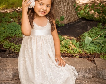 Whimsical Boho Clothing For Kids Boho Flower Girl Dress