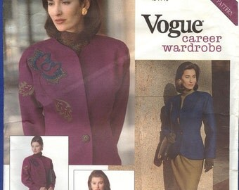 1990 Career Wardrobe - Vogue Sewing Pattern 2518