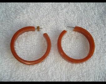 VTG Vintage Hoop Earrings Pierced Earrings