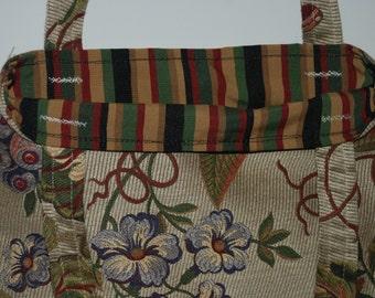 Floral Tote Bag, Designer Fabric