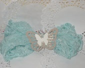 Crinkled Seam Binding Ribbon~Light Turquoise~ Used for Crafts, Scrapbooking, Card Making, Altered Art, Gift Wrap, Sewing ECS