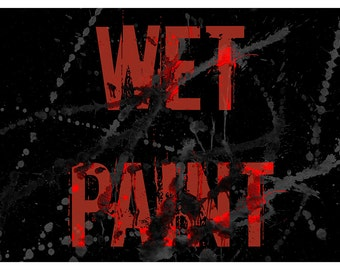 Wet Paint - Word Art Typography Art Print and Canvas Print