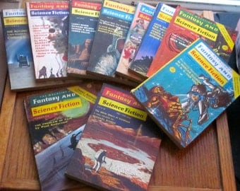 The Magazine of Fantasy and Science Fiction 1971 & 1973 Qty of 10 Paperback Books
