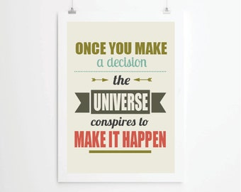 Inspirational quotes, quote prints, quote posters, print art, typography poster, music , positive quotes, Art Print