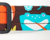 WoofWoof and Sew On - Dog Collar with Embroidered ID Info - Ribbit