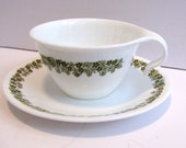 Vintage Corelle Spring Blossom Cup and Saucer Set