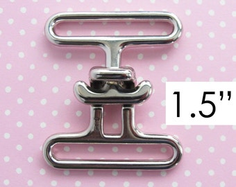 Cinch Buckle 1.5 Inch | Twist lock flap closure hardware for handbags, messenger bags, large bags or purses.
