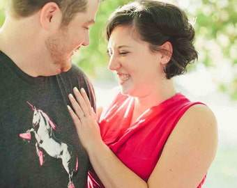 A Roller Skating Unicorn Shirt Perfect For Your Engagement Photos: Crew Neck, American Apparel, Roller Derby Shirt, Unicorn TShirt