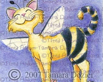 Digital Stamp kitty bee TDozier