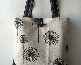 Black Denton Dandelion - Tote Bag
