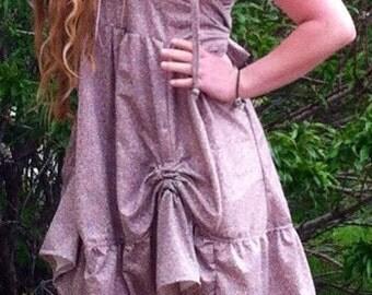 SALE Hooded Dress Prairie Girl Ruffles