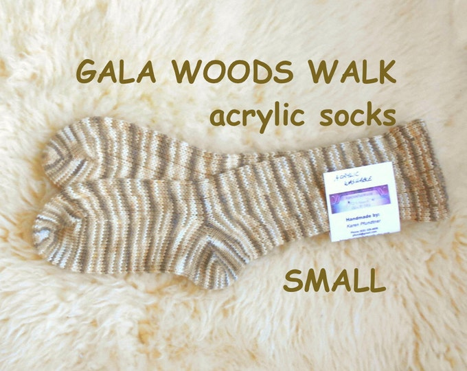 Gala Woods Walk Socks --- washable acrylic blend --- SMALL