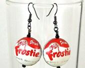 Frostie Root Beer Bottlecap Earrings