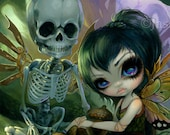 Eve and Rib fairy skeleton art print by Jasmine Becket-Griffith 8x10 steampunk skull bones mechanical wings