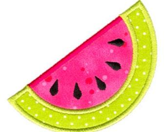 Watermelon Applique, Watermelon Embroidery, Fruit Applique, Summer Embroidery, Machine Embroidery Design, Instant Download