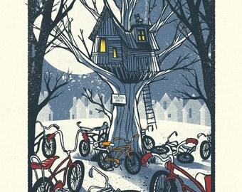 Biker Only - Screenprinted Art Print