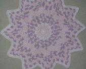 Beautiful Baby Blanket, Pink, White and Lavender Blanket, Round Ripple Crochet Blanket, Baby Girl Blanket