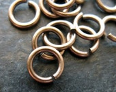 7.5mm 16 gauge Antiqued Brass Jump Rings - 20 pieces